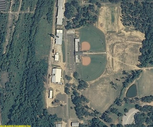 Pike County, MS aerial photography detail