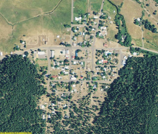 Plumas County, CA aerial photography detail