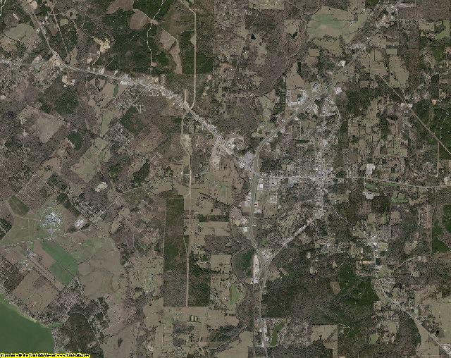 Polk County, Texas aerial photography