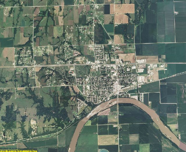 Pottawatomie County, Kansas aerial photography