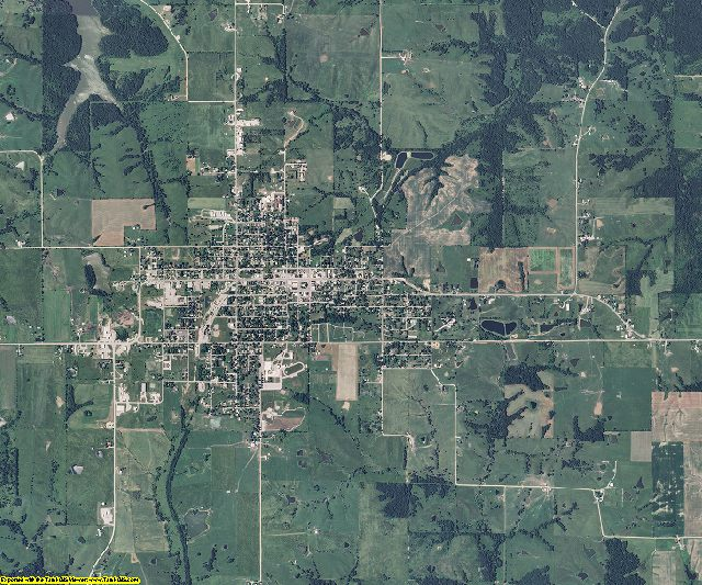 Putnam County, Missouri aerial photography