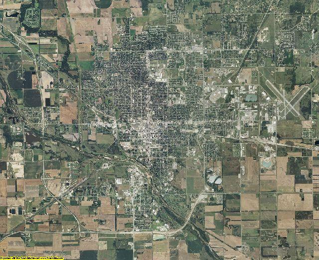 Reno County, Kansas aerial photography