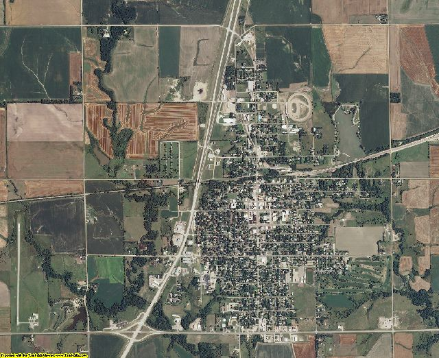 Republic County, Kansas aerial photography