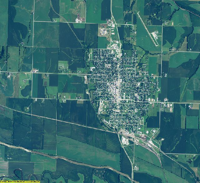 Richardson County, Nebraska aerial photography