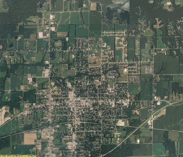 Richland County, Illinois aerial photography