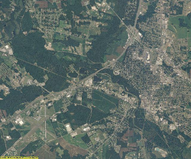 Robeson County, North Carolina aerial photography