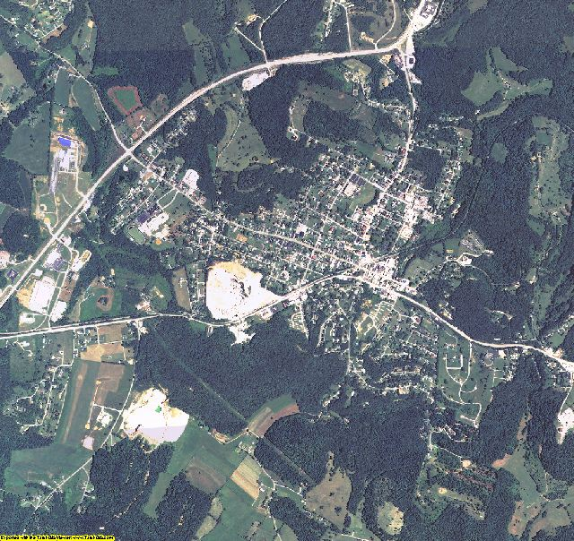 Rockcastle County, Kentucky aerial photography