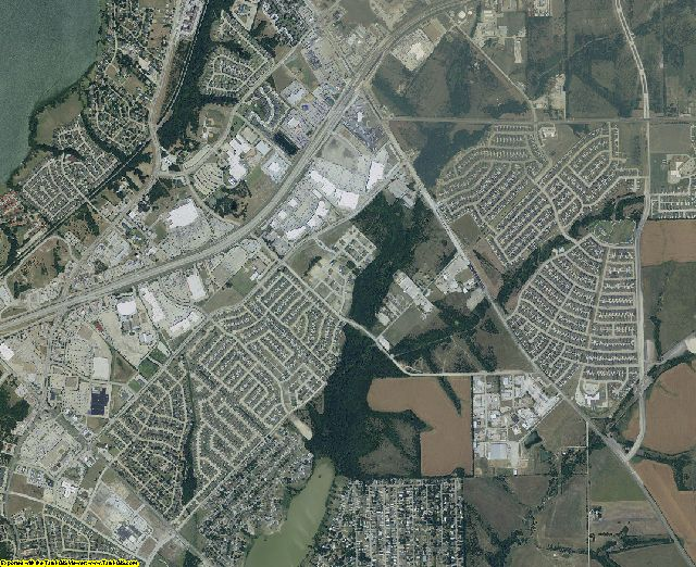 Rockwall County, Texas aerial photography