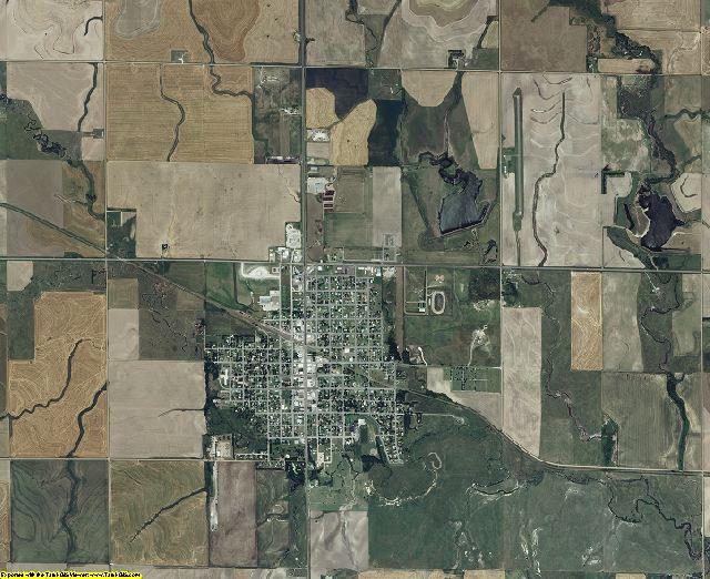 Rush County, Kansas aerial photography