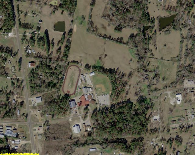 Sabine County, TX aerial photography detail