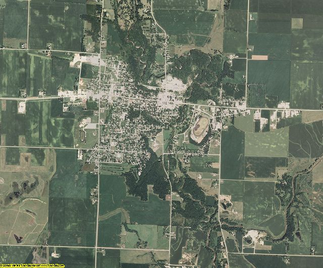 Sac County, Iowa aerial photography