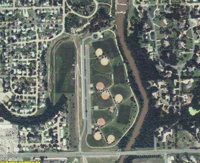 Saline County, KS aerial photography detail