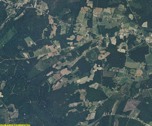 Sampson County, North Carolina aerial photography