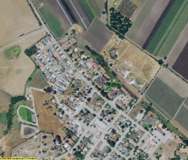 San Benito County, CA aerial photography detail