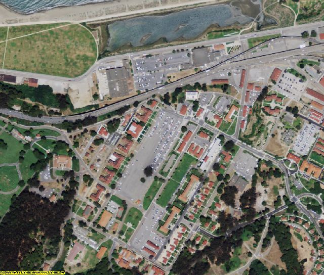 San Francisco County, CA aerial photography detail