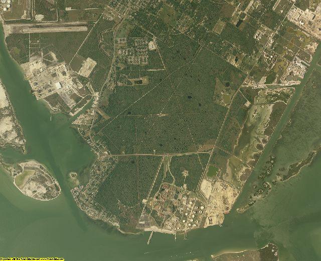 San Patricio County, Texas aerial photography