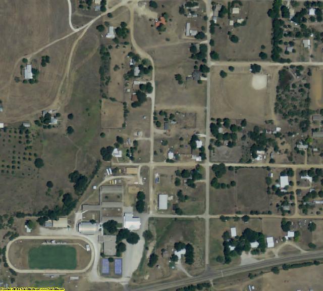 San Saba County, TX aerial photography detail