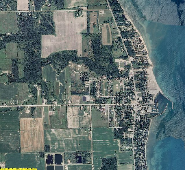 Sanilac County, Michigan aerial photography