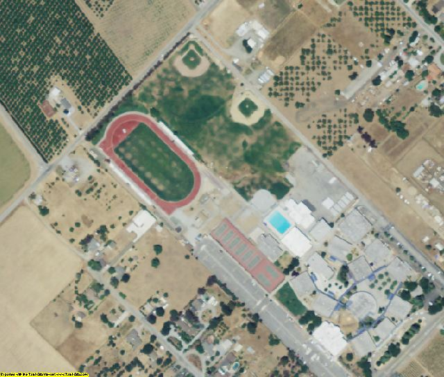 Santa Clara County, CA aerial photography detail