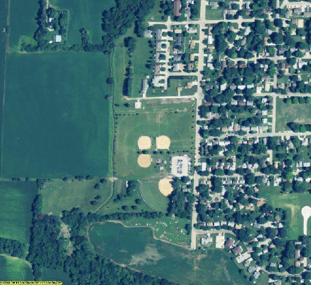Saunders County, NE aerial photography detail