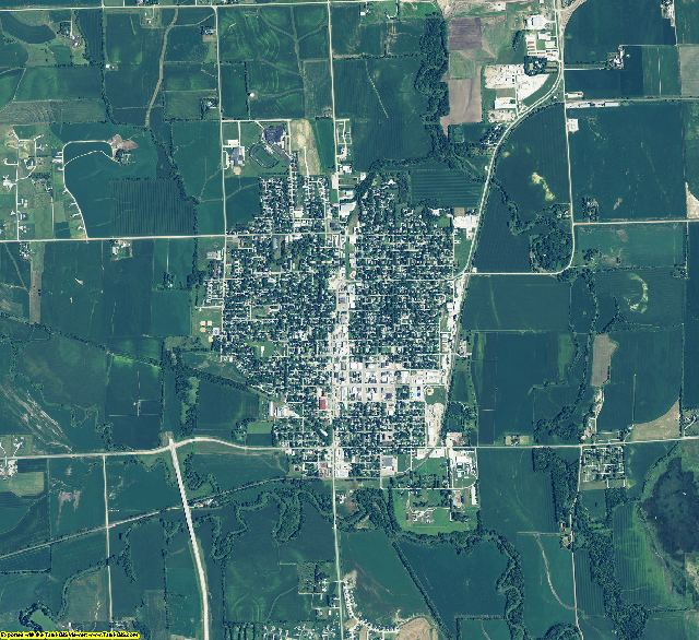 Saunders County, Nebraska aerial photography