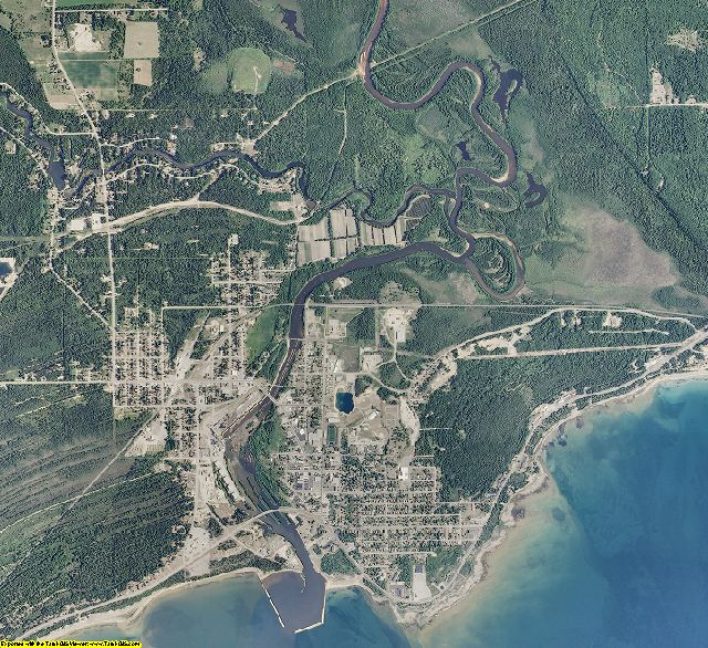 Schoolcraft County, Michigan aerial photography