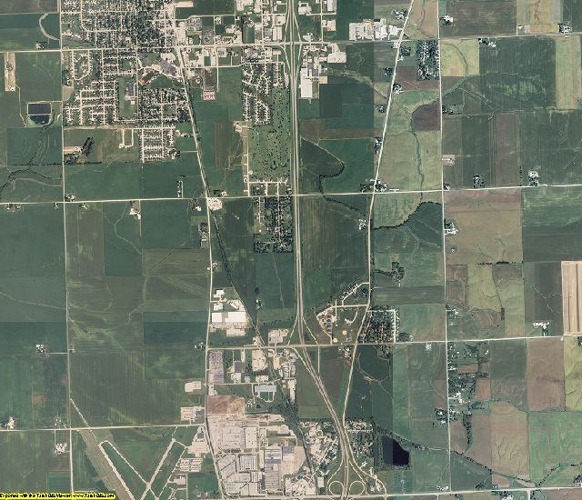 Scott County, Iowa aerial photography