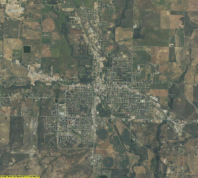 Scurry County, Texas aerial photography