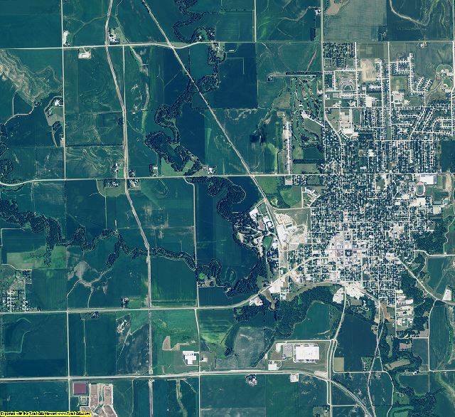 Seward County, Nebraska aerial photography