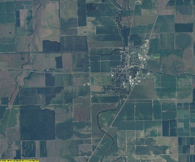 Sharkey County, Mississippi aerial photography