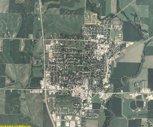 Shelby County, Iowa aerial photography
