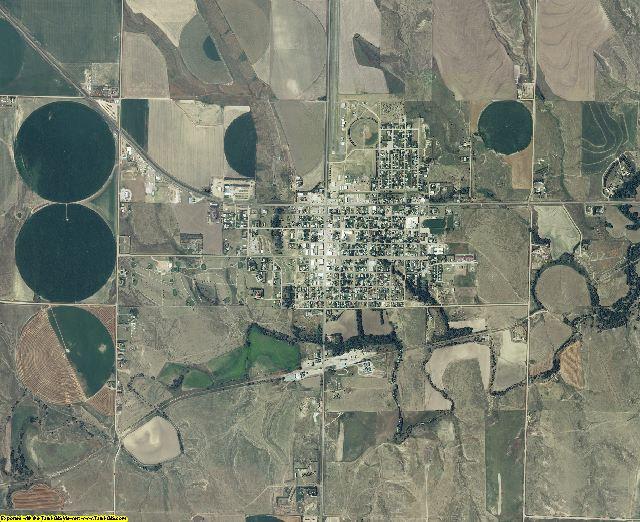 Sheridan County, Kansas aerial photography