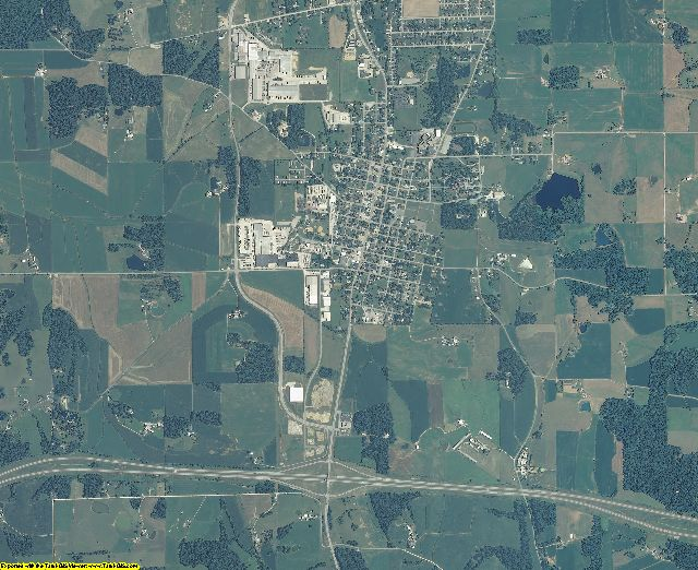 Spencer County, Indiana aerial photography