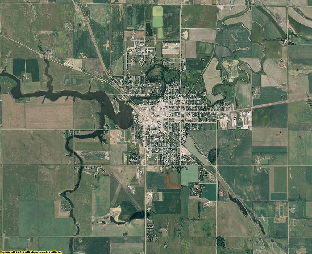 Spink County, South Dakota aerial photography