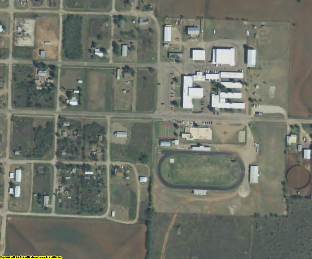 Stonewall County, TX aerial photography detail