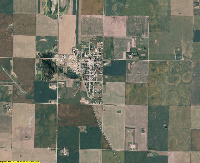 Sully County, South Dakota aerial photography