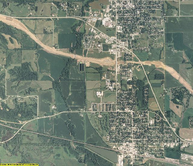 Tama County, Iowa aerial photography