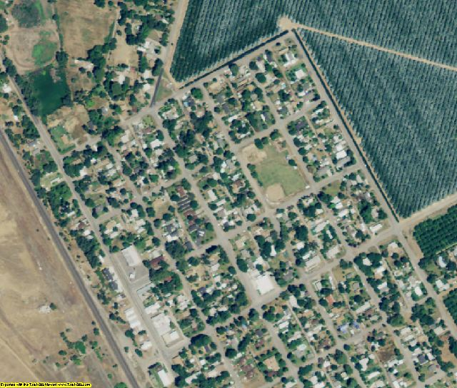 Tehama County, CA aerial photography detail