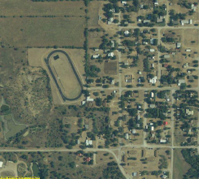 Throckmorton County, TX aerial photography detail