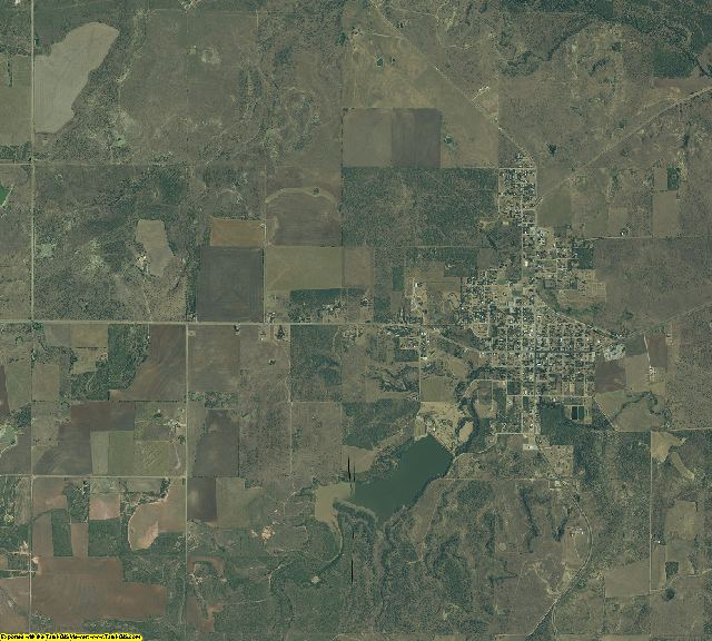 Throckmorton County, Texas aerial photography