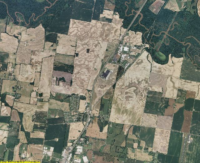 Tipton County, Tennessee aerial photography