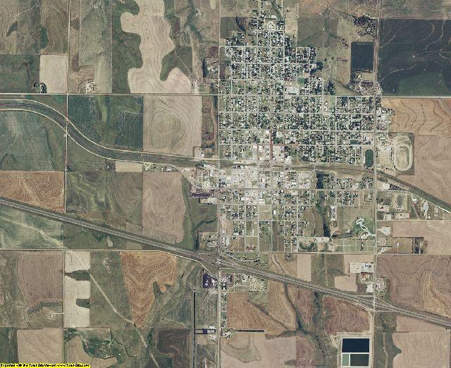 Trego County, Kansas aerial photography