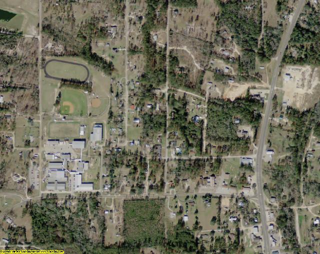 Tyler County, TX aerial photography detail