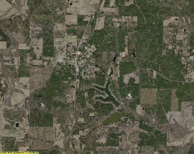 Tyler County, Texas aerial photography
