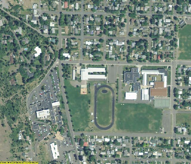 Union County, OR aerial photography detail