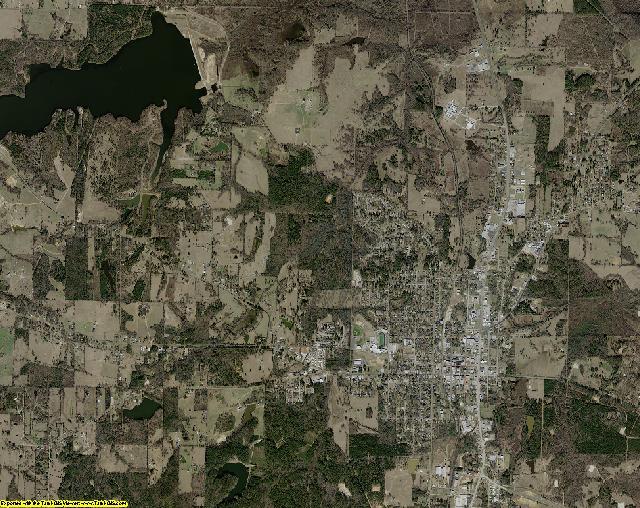 Upshur County, Texas aerial photography