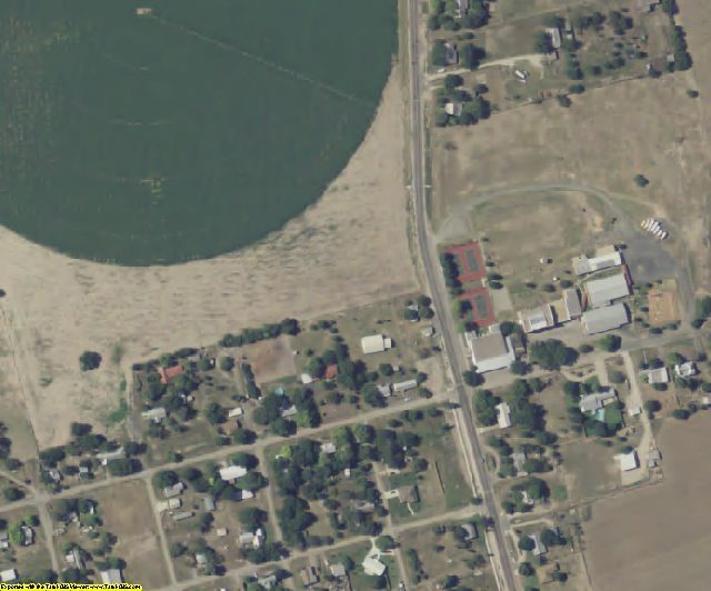 Uvalde County, TX aerial photography detail