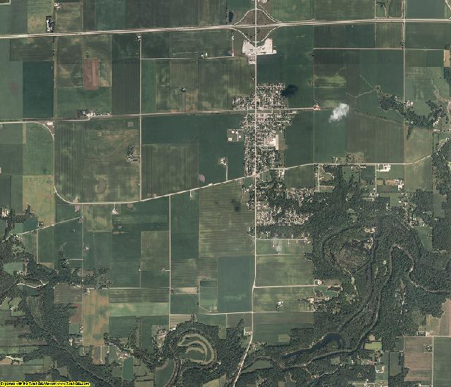 Vermilion County, Illinois aerial photography