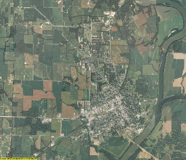 Wabash County, Illinois aerial photography