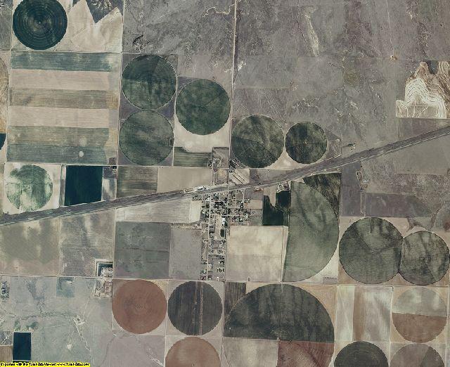 Wallace County, Kansas aerial photography